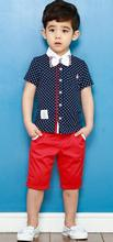 2015 Boys clothes suit gentleman fashion denim pants set jacket T-shirt tie children clothes Kids Plaid bow Free Shipping(China (Mainland))