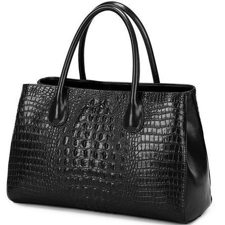 Wholesale 2015 known brands new fashion ladies Crocodile pattern Cowhide Genuine leather big elegant commuter handbag(China (Mainland))