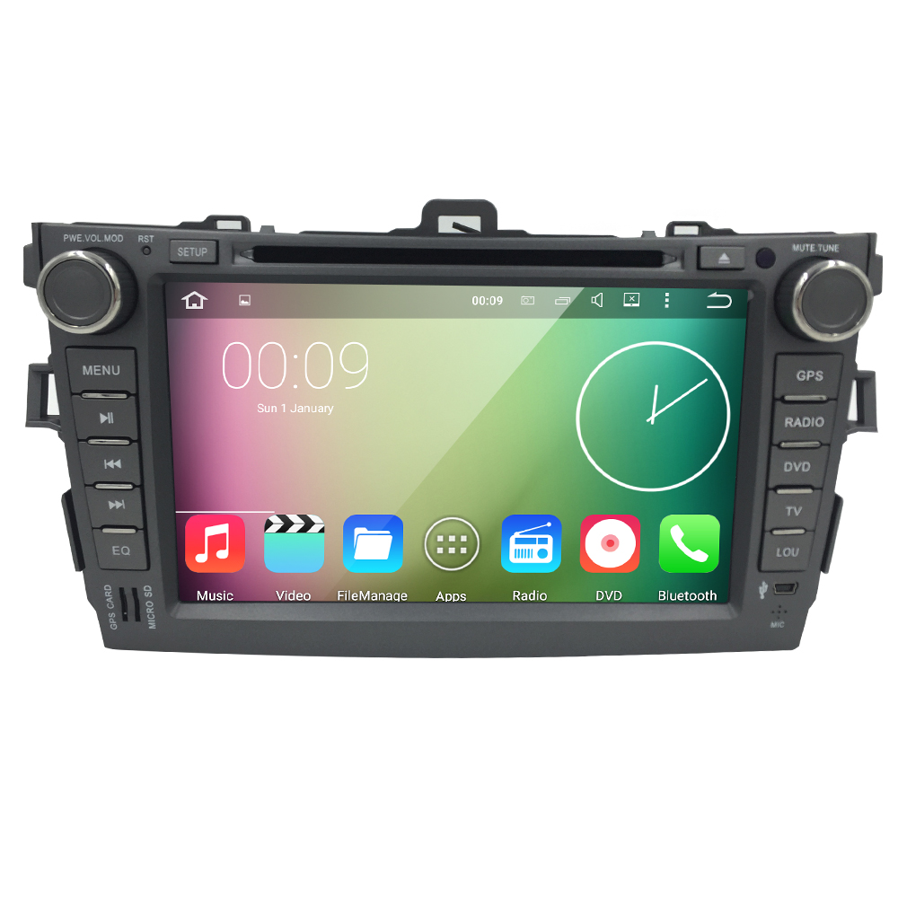 8 inch Android Car DVD For Toyota Corolla DVD Player Built in GPS Double Din Car Player Capacitive Screen 2 Din Quad Core Car PC(China (Mainland))