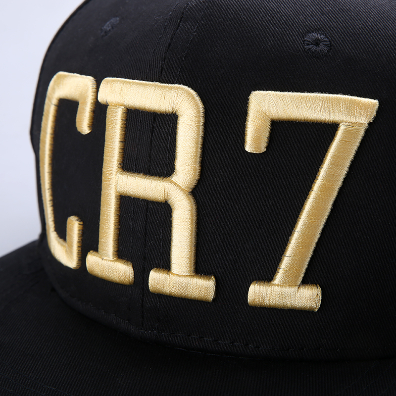 2015 Cristiano Ronaldo CR7 Black Blue Baseball Caps hip hop Sports Snapback Football hat chapeu de