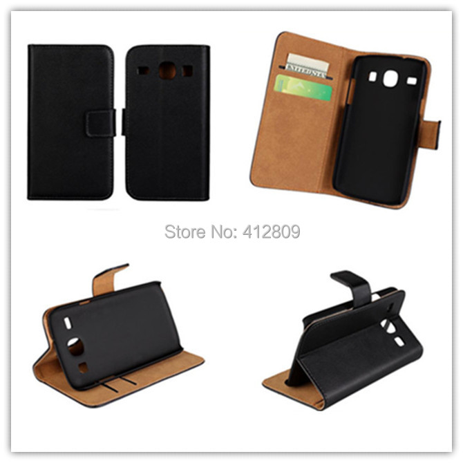 10PCS Fashion Genuine Leather Wallet Pouch Cover For Samsung Galaxy Win I8262 i8260 Credit Card Holder Cellphone Bags Free
