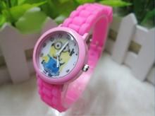 2015 New Fashion cute cartoon Children casual watch Despicable Me Minions quartz sport wristwatch 1pcs