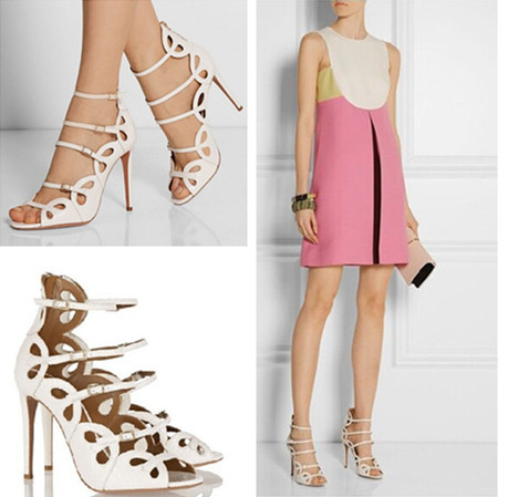 Fashion Impera Gladiator Buckle Designer Cutouts Summer Style Women Sandals Boot High Stiletto Heels Pumps Shoes Woman