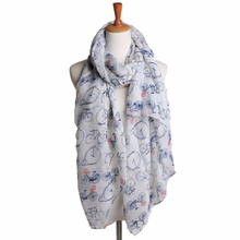 Best Deal New Women Lady Spring Fresh Soft Long Cute Bicycle Pattern Print Scarf Wraps Shawl Soft Scarves Gift 1PC(China (Mainland))