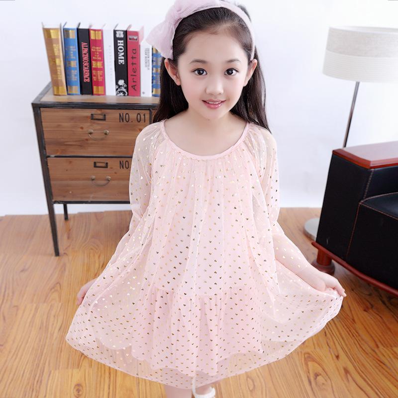 3-12 years girls cute dot print mesh princess dress 2016 new summer retail kids children heart dresses hot sale wear clothes 484(China (Mainland))