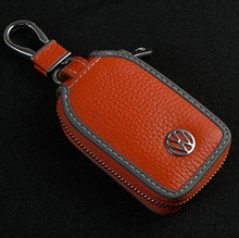 New Skylight design Lichee Leather Car Key Wallet For Volkswagen Simple style Auto key cover / case for Volkswagen