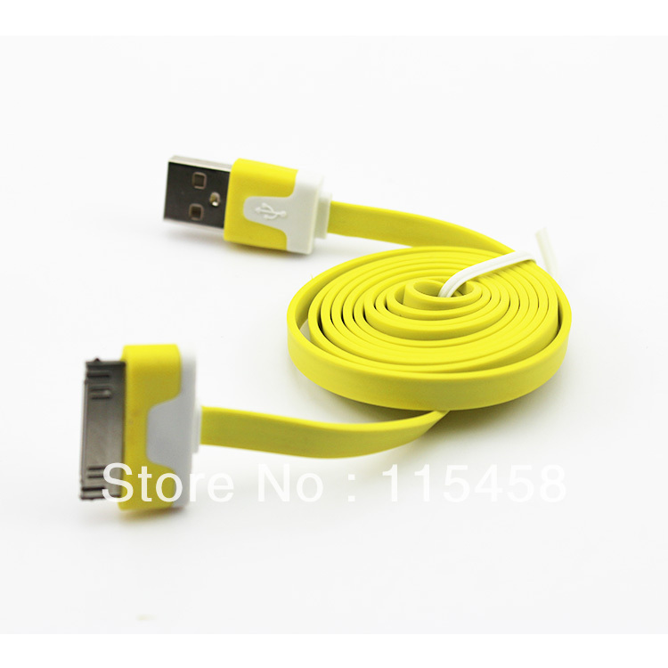 200pcs/lot data sync USB cable/data cable/charger cable for iphone 4/iphone 4S//ipod touch/ipad+Free shipping by DHL EMS(China (Mainland))