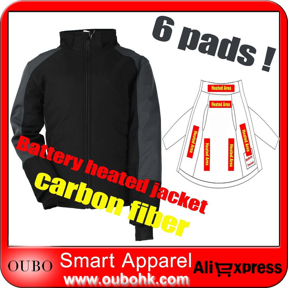 Battery Heated Hiking Jacket Carbon Fiber Heating Coat Winter Autumn Outdoor Sportswear Windproof Waterproof Washable OUBOHK - NINGBO OUBO APPAREL CO., LTD store