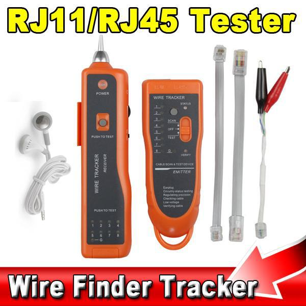 New RJ11 RJ45 Cat5 Cat6 Telephone Wire Tracker Tracer Diagnose Toner Ethernet LAN Network Tool Cable Tester Detector Line Finder(China (Mainland))