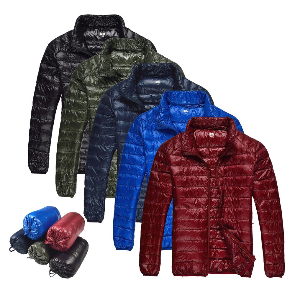 2015 Men Fall/Winter Duck Down Jacket Ultra Light Thermal Fashion Travel Pocketable Portable Thin Sports Duck Coats Outerwear(China (Mainland))