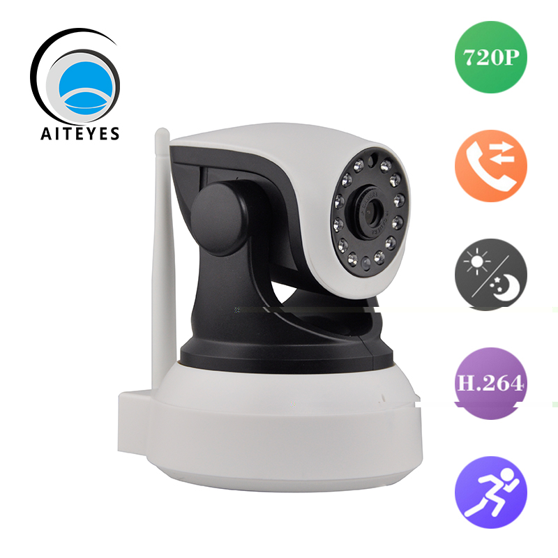 AIteyes New Mutifuctional CCTV Camera Wifi Indoor P2P IP Cam Wireless HD 720P IR Security Camera Support 64G SD Card(China (Mainland))