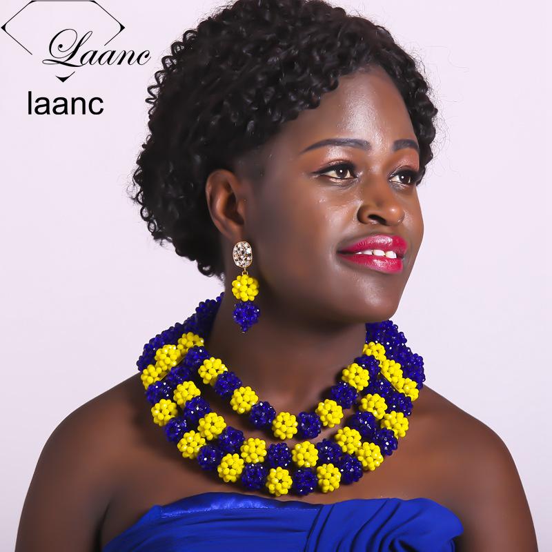 215African Wedding Beads Jewelry Set215