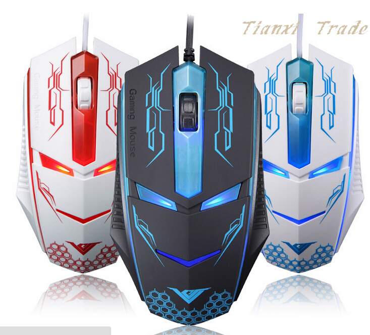 Supper Gamer Mouse Optical Usb Wired PC Gaming Mouse Mice for for laptops desktop Gamer Mouse D0356(China (Mainland))