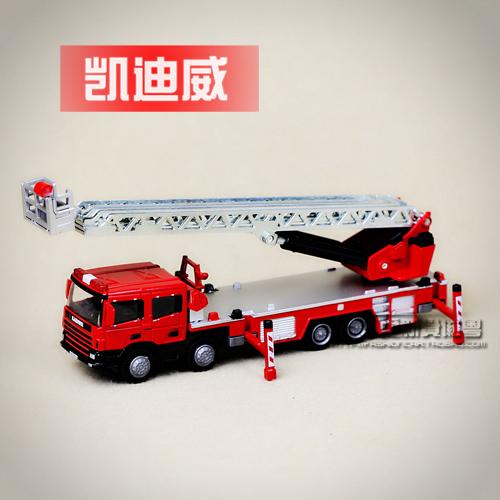 Metal alloy car model Bulk full alloy scaling ladder fire truck 119 alloy car toy gift for children  christmas
