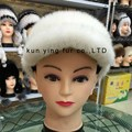 White water mink fur baseball cap