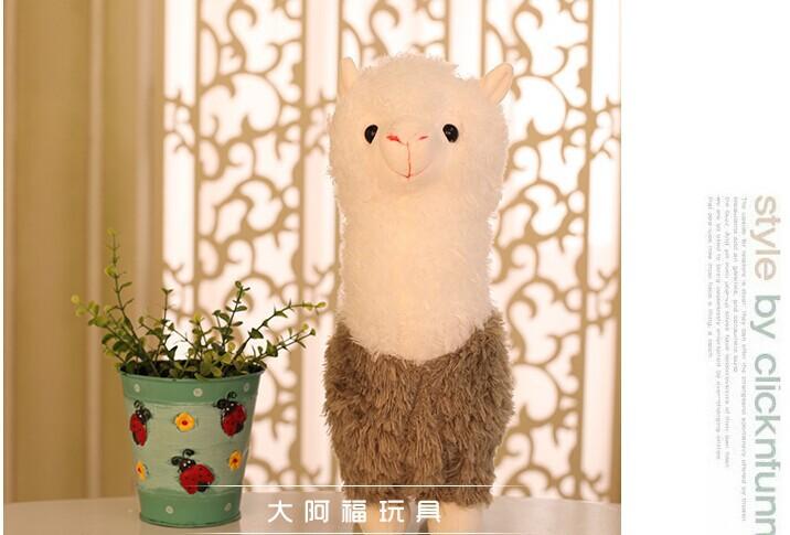 stuffed toy35cm lovely alpaca sheep plush toy, birthday gift a8023(China (Mainland))