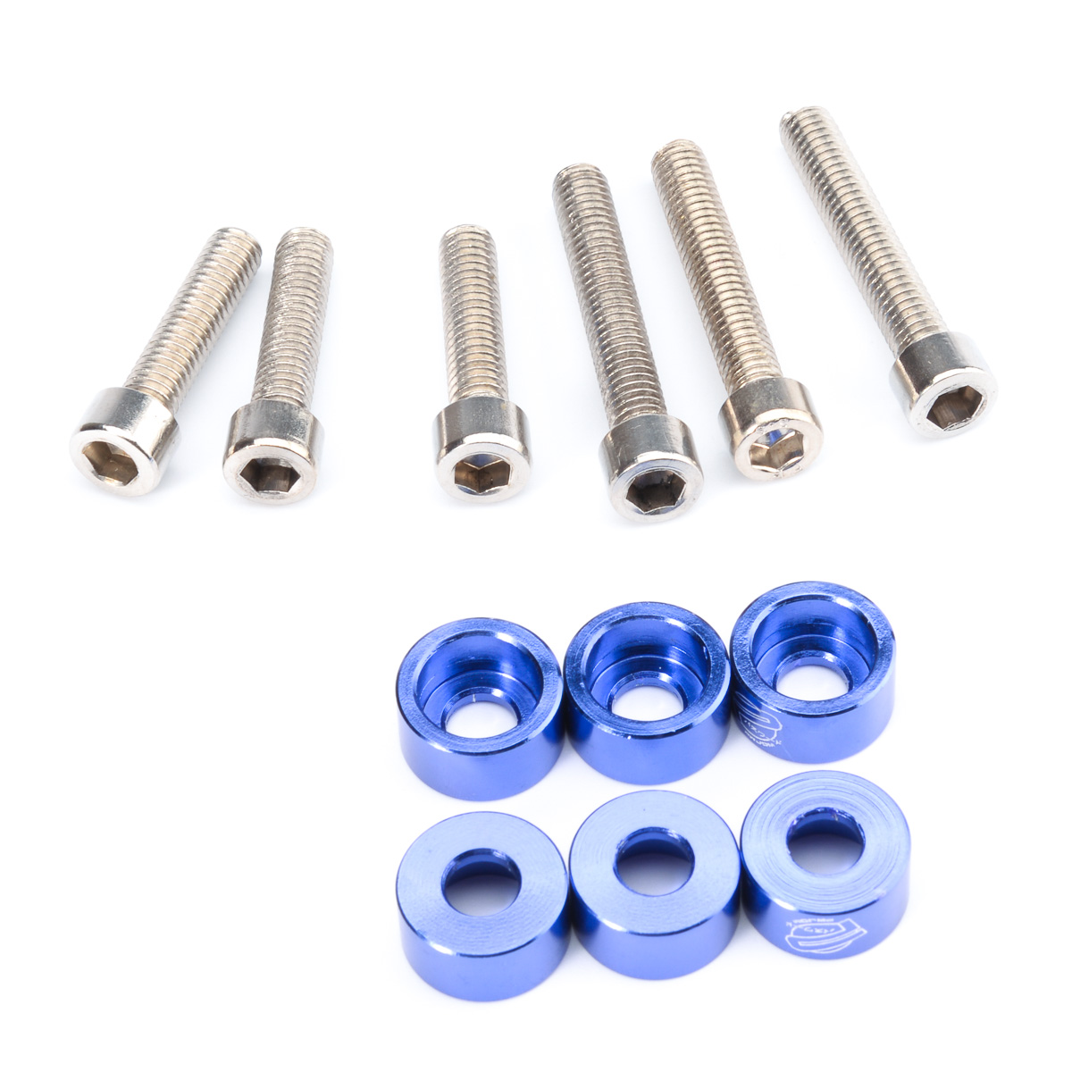 6pcs lot Blue JDM Car Gasket Screw Compartment Inlet pipe Auto Engine Parts suit Cup Washers