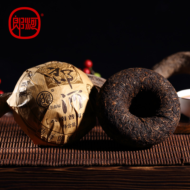 [GRANDNESS] 2011 Lang River Miaowang Cooked Puer Tea Yunnan Ripe Puer Tuo Cha Menghai Puerh Tea ripe puer 100g Health Food<br><br>Aliexpress