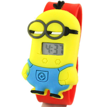 HOT kids watches LED Watch for Girls Despicable Me minion Cartoon watch for Children Digital clock reloj led(China (Mainland))