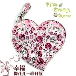 100% real flash drive Romantic heart-shaped usb 2.0 Memory Sticks Cartoon 8GB usb flash drive fashion love pen drive memory card(China (Mainland))
