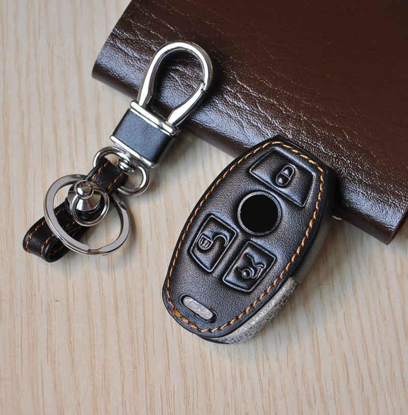 Leather car key rings for mercedes benz c e s class coupe for Mercedes benz key chain