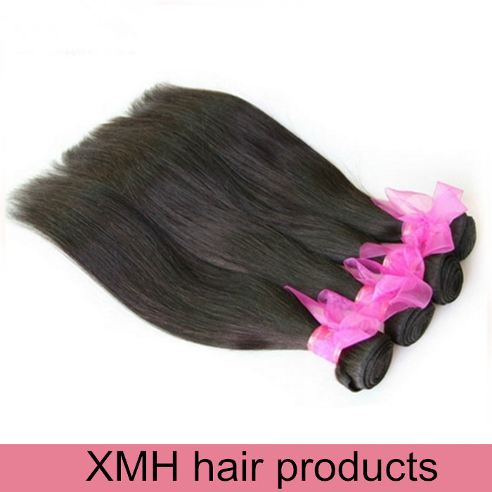 6A Grade XMH Hair 3 bundles indian virgin hair straight human hair weaves straight indian straight hair extension<br><br>Aliexpress