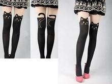 Women leggings Spring Knee High Length Stretch Velvet Skinny Pants Super Thin Kitten Cat Leggings for Women Free shipping(China (Mainland))