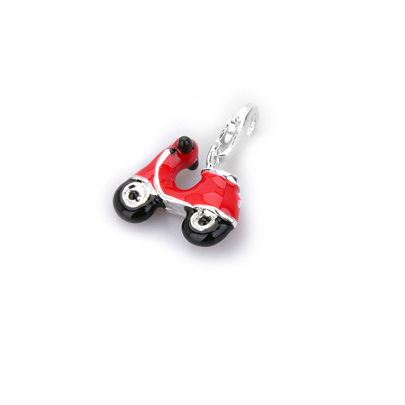- High quality Wholesale Super deal Red motorcycle ts833 charms pendants Free shipping Thomas Style(China (Mainland))