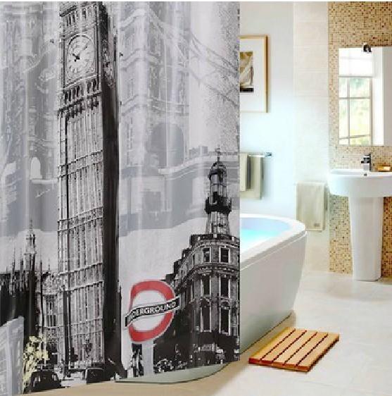 3D полиэстер биг бен водонепроницаемый ванная комната душ Curtainse Terylene душ шторы ETH029