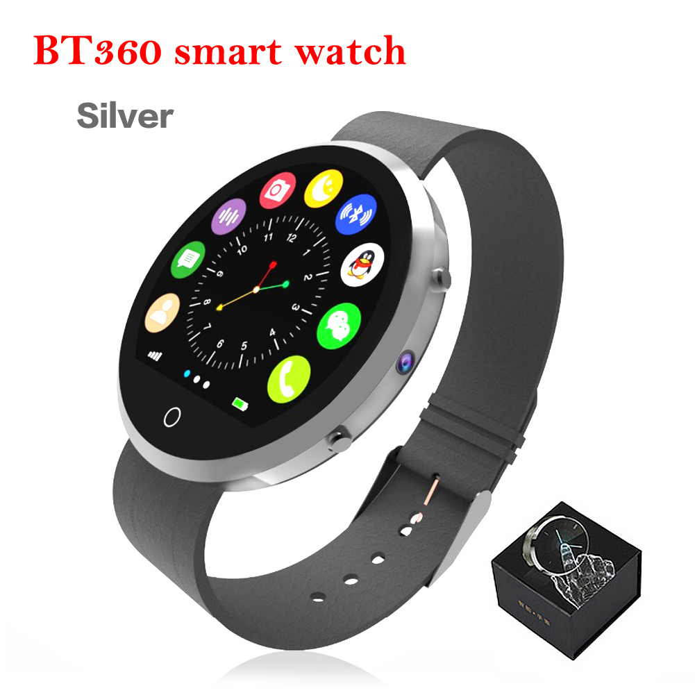 Fashion Newest Smart Watch BT360 Pedometer Sedentary Blutooth SmartWatch Sleeping Monitor Mini Camera Support call/sms/wechat(China (Mainland))