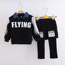 2016 spring baby boys sweatshirts 2pcs cotton stripe kids pullovers sports new children tops factory sale WY06(China (Mainland))