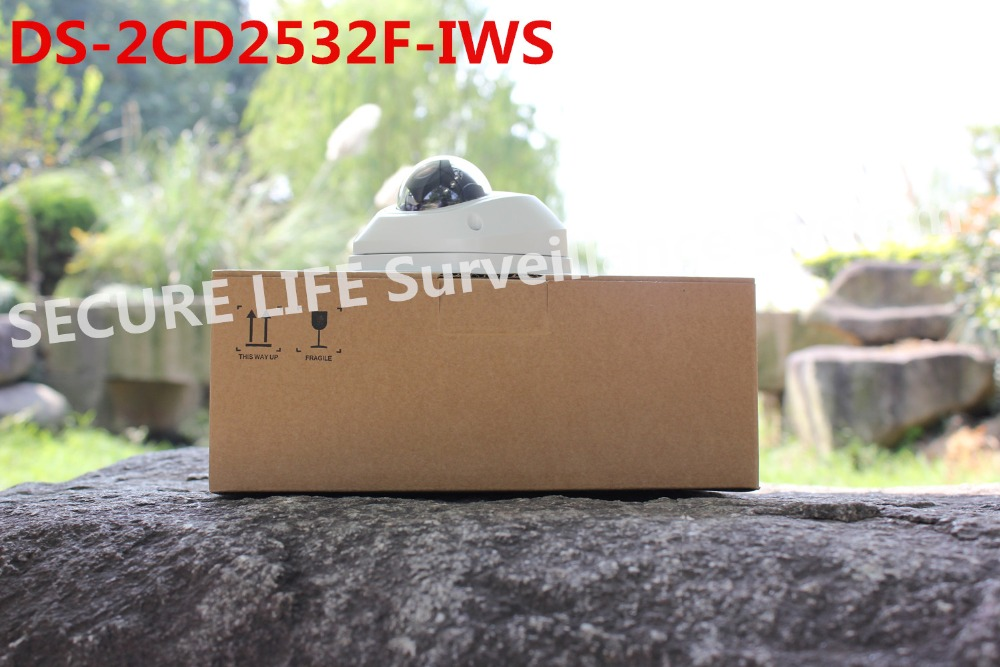 multi-language version DS-2CD2532F-IWS 3mp mini dome Network IP Camera POE WIFI,10m IR , built in mic cctv camera alarm<br><br>Aliexpress