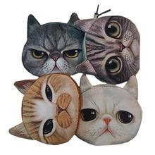 New Cute Cat Face Zipper Case Coin Purse Wallet Makeup Buggy Bag Pouch 5 Style 1pcs