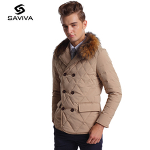 2016 Winter New Men's Warm Down Jacket Men's Jackets Slim Casual Fashion New Winter Warm Double-Breasted Coat Male Long Section(China (Mainland))