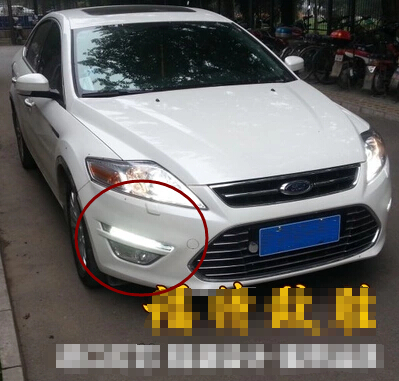 Free shipping 12V DRL LED Car light DRL Daytime Running Lights For Ford Mondeo 2011-12 with fog light<br><br>Aliexpress