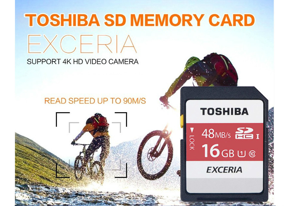 Toshiba Real 16gb class 10 SD card UHS-1 48MB/S 64GB SDHC flash TF Memory Card micro SD card for camera Reader Plastic Case