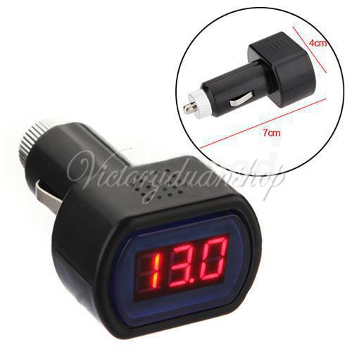 Battery Voltage Monitor : Free shipping dc v car digital led engine battery