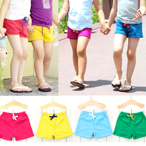 kids summer shorts children girl candy color short pants Kids clothes 21 Colors Choose fits 3T-7T(China (Mainland))