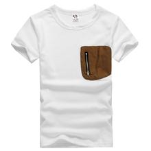 models original single patch pocket zipper cotton short t-shirts For Summer BabyT-shirt