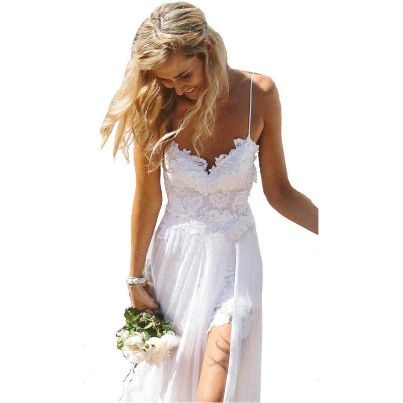 Buy vestido de noiva casamento sexy for White summer wedding dress
