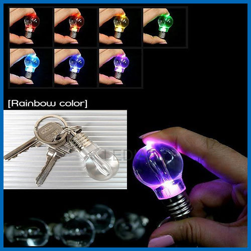 LED night light/lamp colorful key-chain bulb also can be a pendant night lamp for creative present emergency lamp free shipping(China (Mainland))