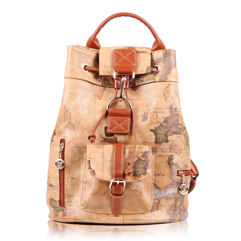 2013 new arrival  world map backpack vintage casual womens handbag for wholesales &amp; retail #712 free shipping<br><br>Aliexpress