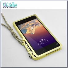 New Design Mechanical Arm Metal Aluminum Luxury bumper xiaomi 3 MIUI Mi3 M3 mobile phone aluminum frame case+screen film