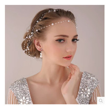 New Fashion Synthetic Pearl Party Bridal Head Chain Line Hair Accessory Wedding Hair Accessories Hairbands Headbands