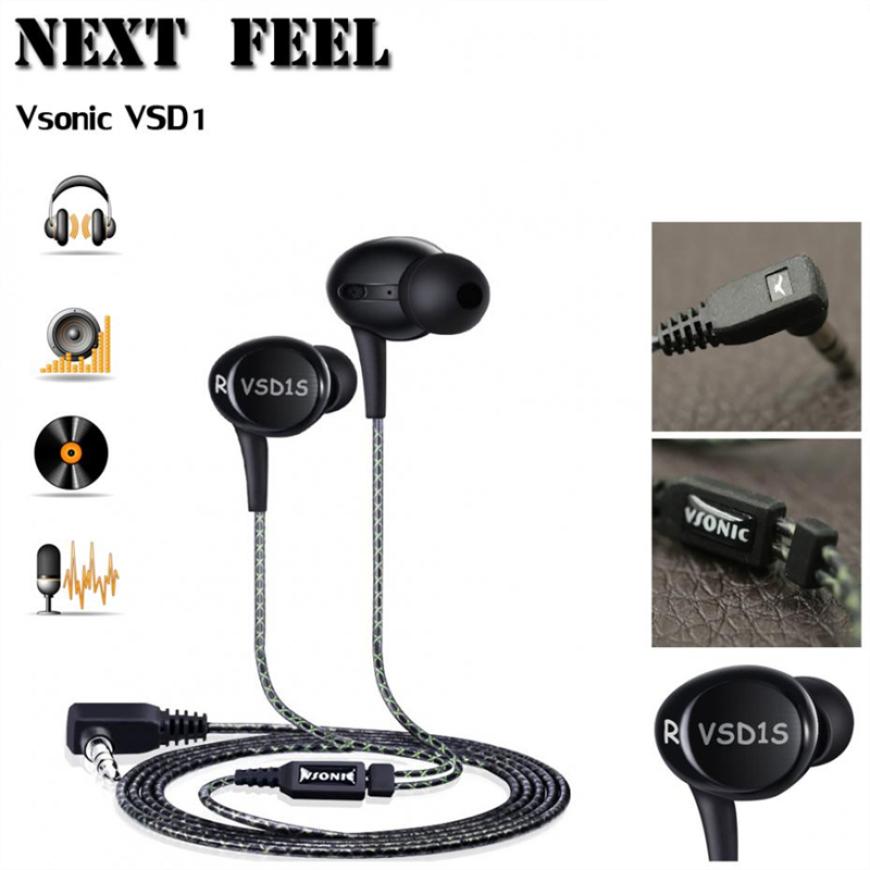 Vsonic VSD1S Professional Monitor DJ Studio 3.5mm Bass stereo In Ear Headphones,get a gift worth $ 4.99,Limited buying(China (Mainland))