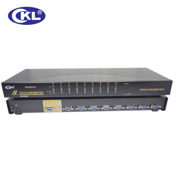 8 port PS2 Manual KVM Switch Box PC Monitor for Keyboard Video Mouse with cables(China (Mainland))