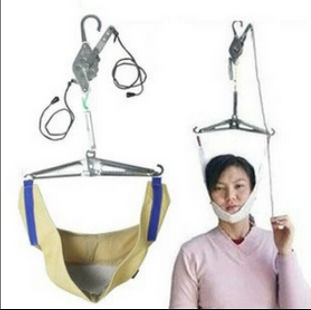 Neck care device cervical traction device home use and medical cervical and lumbar traction device free shipping(China (Mainland))