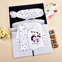 Newborn baby 3 piece suit 0-6 month girl clothes boy clothes pure cotton Long sleeved pajamas(China (Mainland))