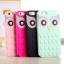 3D Cute Cartoon OWL Soft Silicon Rubber Phone Case Cover Apple iPhone 7 7Plus 4 4S 4G 5 5S 5G 6 6S Plus 5.5 - One Shop,One Dream Co., Ltd store