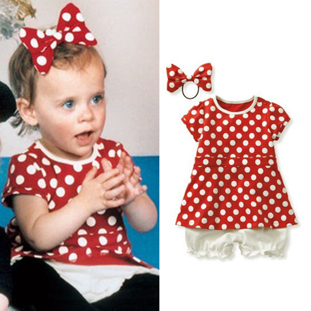 Fashion female baby clothes baby clothes summer red dot 0-1 year old 1 - 2 years old baby clothes 100% cotton